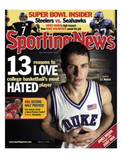 Duke Blue Devil J.J. Redick   February 10, 2006 Posters