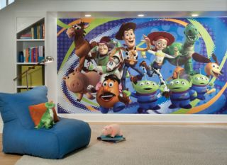 Toy Story 3 Chair Rail Prepasted Mural 6 x 10.5 Wall Mural