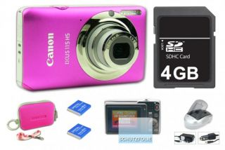 Canon Ixus 115 hs Pink Digitalkamera, Neu 12,10 MP, 3 LCD, FULL HD