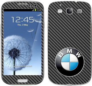 Samsung Galaxy S3 BMW Motorsport M Carbon Fibre EFFECT Wrap Skin Cover