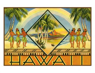 Hawaii Travel Brochure, c.1943 Giclee Print