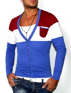 NEU COLLECTION 2013 SEXY HERREN COLLEGE CARDIGAN JACKE T SHIRT 4