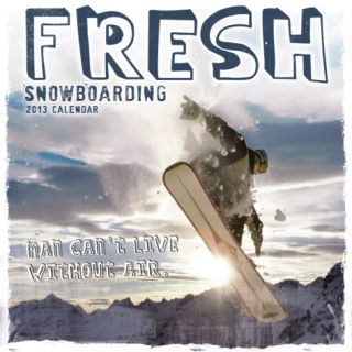 Fresh Snowboarding   2013 12 Month Calendar Calendars
