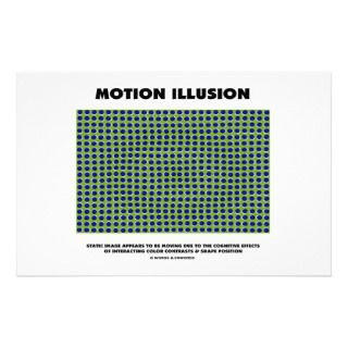 Motion Illusion (Optical Illusion) Stationery Paper