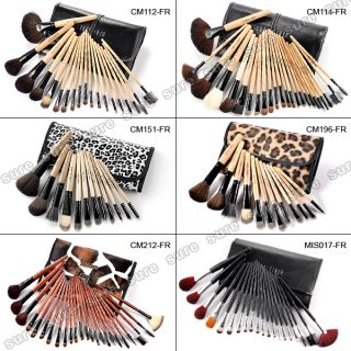 Fraulein3°8 Profi Makeup Lidschatten Puder Pinsel Brush Set mit Etui