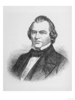 Andrew Johnson, 17th President of United States from The Illustrated London News, 6th May 1865 Giclee Print