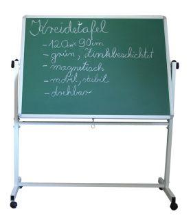 Mobile grüne Kreidetafel mobile Tafel 120 90 cm 1.Seite Schultafel