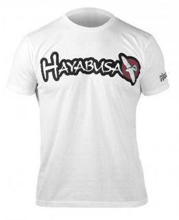 Hayabusa Logo T Shirt MMA UFC S XXL black white aqua