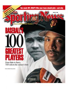 San Francisco Giants OF Barry Bonds and New York Yankees OF Babe Ruth   April 19, 1999 Prints
