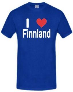LOVE Finnland T Shirt Herren S XXL Bekleidung