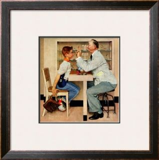 At the Optometrist or Eye Doctor, May 19,1956 Framed Giclee Print by Norman Rockwell