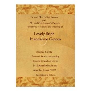 Blue Shabby Lace Wedding Invitation