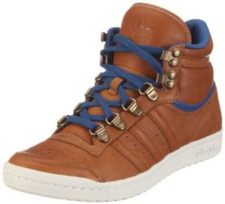 Adidas Top Ten Hi Sleek Leather Schuh Braun Blau Schuhe