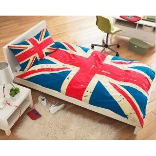 Ben Sherman Single Bettwäsche Union Jack Blue Red 137x198 cm: