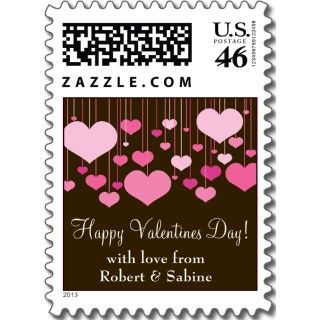 Heartstrings Valentines Postage by starstreamdesign