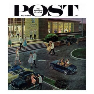 Prom Dates in Parking Lot, Saturday Evening Post Cover, May 19, 1962 Giclee Print by Ben Kimberly Prins