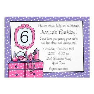 Glamour Girl Birthday Party Invitation invitation