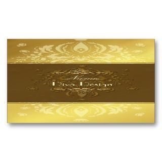 Damask BusinessCard gold tone on tone Business Cards