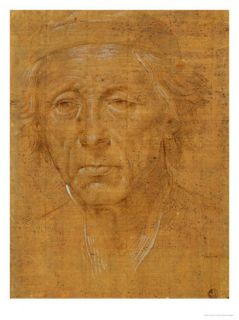 Portrait of an Old Man, Full Face, With Cap Giclee Print by Lorenzo di Credi