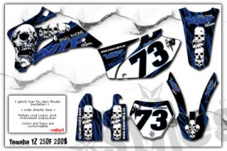 YAMAHA YZ YZF WR 125 250 450 GRAPHICS decal DEKOR 00 09