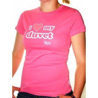 Plain Lazy Womens Ich liebe meine Bettdecke T Shirt   Pink  Farbe