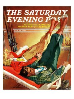 Apres Ski, Saturday Evening Post Cover, February 22, 1941 Giclee Print by Ski Weld