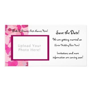 Pink Camo Save the Date Card Photo Greeting Card