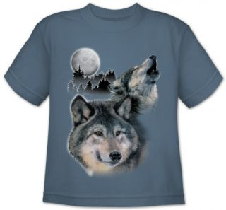 Youth: Animal Wildlife   Wolf Howl T Shirt