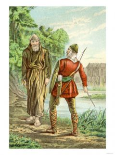 Friar Tuck and Robin Hood Prints
