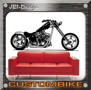 Wandtattoo Shopper Custom Chopper Harley usw.130X58 BIG