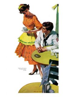 Girls Are For The Asking   Saturday Evening Post Leading Ladies, May 24, 1958 pg.31 Giclee Print by Morgan Kane