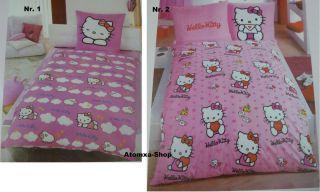 Sanrio Hello Kitty Bettwäsche Garnitur Decken  und Kissenbezug