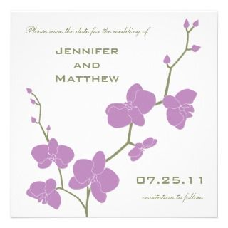 the Date   Vintage Olive and Violet Custom Invitations
