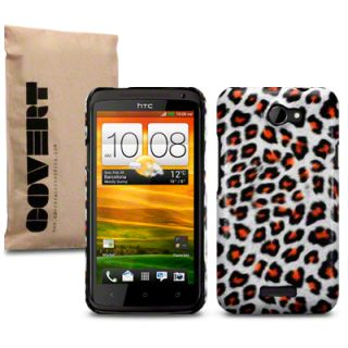 Covert Branded PU Leather Back Cover Case For HTC One X Leopard,Zebra
