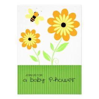 Honeybee Baby Shower Inviaions