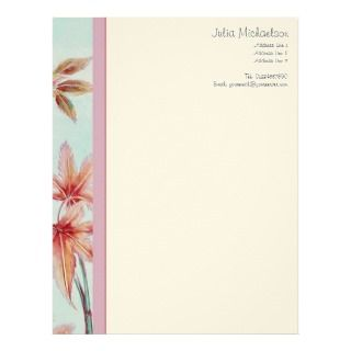 Elegant Vintage Japanese Maple Customized Letterhead