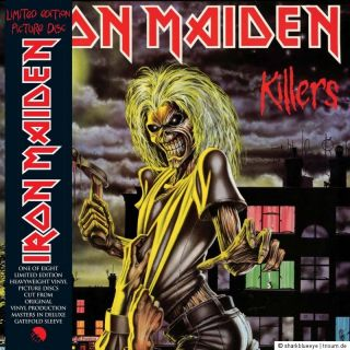 Iron Maiden   Vinyl Picture Disc Collection Box 1980 1988 (Box+2 LP