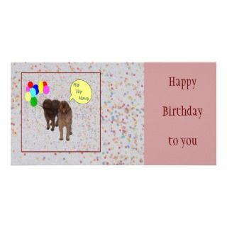 Feliz cumpleaños   perros que cantan tarjetas fotográficas de