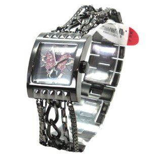 EDC Modische Damenuhr rockn roll queen   vintage silver Gun Color