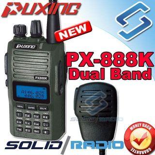 Puxing PX 888K Dual band radio 136 174 400 480 + Earpiece + Speaker