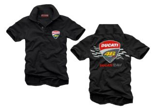 SUPERBIKE TEAM DUCATI POLO SHIRT T BIKE DT BLACK GR.(L) MOTORSPORT NEU