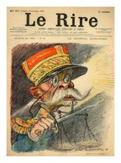 Caricature of General Zurlinden, from the Front Cover of Le Rire, 24th September 1898 Giclee Print by Charles Leandre