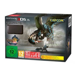 Nintendo 3DS XL   Konsole, schwarz + Monster Hunter 3 Ultimate