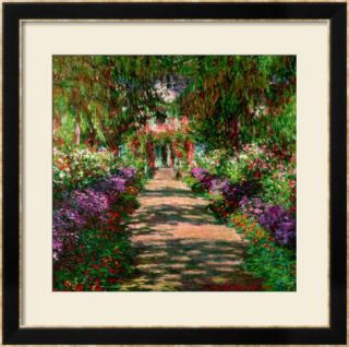 A Pathway in Monets Garden, Giverny, 1902 Framed Giclee Print by Claude Monet