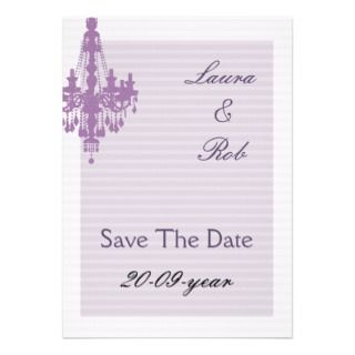chic violet save tthe date announcement