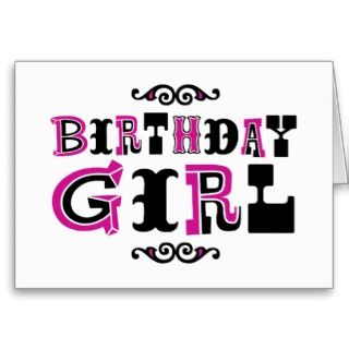 Cards, Note Cards and Baby Girl Birthday Greeting Card Templates