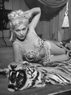Actress Kim Novak in Title Role Performing Hoochie Coochie Dance in the Movie Jeanne Eagels Premium Photographic Print by J. R. Eyerman