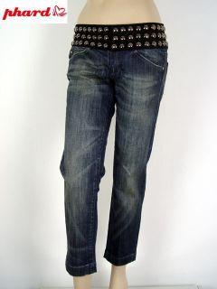 Phard® Jeans Nietenbund dark blue distressed W29 B132