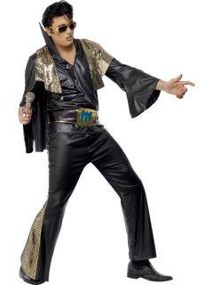 Kostüm Elvis Presley Offiziell Schwarz Größe M Verkleidung