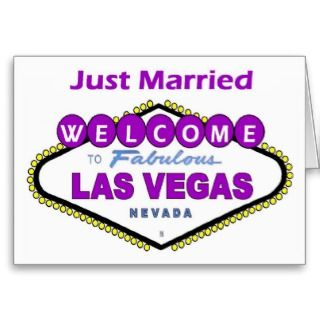 Just Married Las Vegas Announcement Card